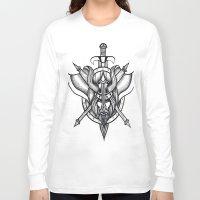viking Long Sleeve T-shirts featuring Viking by Liz Guhl @lizaguhl