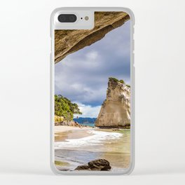 Beach Cave 2 Clear iPhone Case