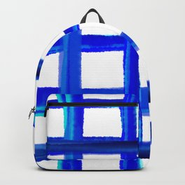 Gingham blue organic - Vichy Karo Blau  Backpack