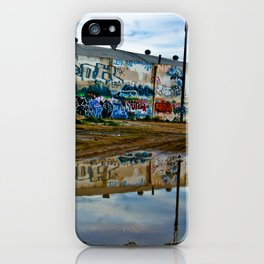 Reflections of Los Angeles graffiti iPhone Case
