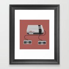 Retro Gaming - NES Framed Art Print