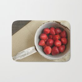 Summer Strawberries Bath Mat