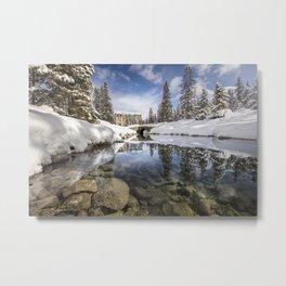 Lake Louise River Metal Print