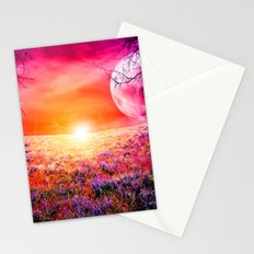 Purple Landscape XXI Stationery Cards