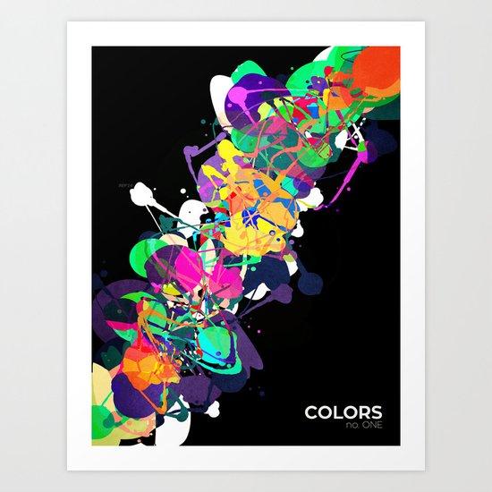 Mixed Media Colors 1 Art Print