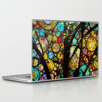 fairy tale Laptop & iPad Skins featuring Fairy Tale Tree by Klara Acel