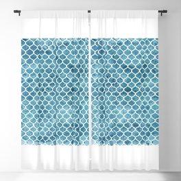 Sea-green Trellis Pattern Blackout Curtain