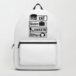 Eat Sleep Hakken Repeat - Gabber Hardstyle Backpack