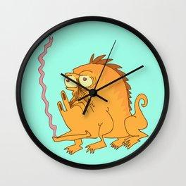 Tongue Lizard Wall Clock