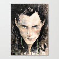 loki Canvas Prints featuring Loki by Rosaria Battiloro