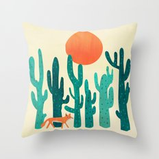 Desert fox Throw Pillow