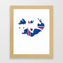 Iceland Reykjavík Icelandic Island Icelandic Framed Art Print