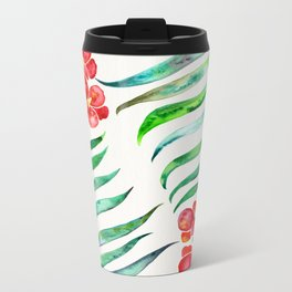 Blooming Orchid – Red & Green Palette Travel Mug