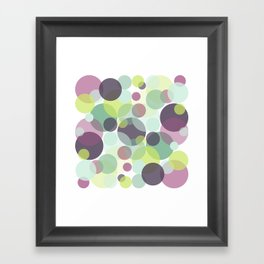 Candy Dots Framed Art Print