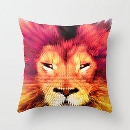 BIG CAT LION Throw Pillow