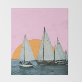 Into the Sunset Throw Blanket