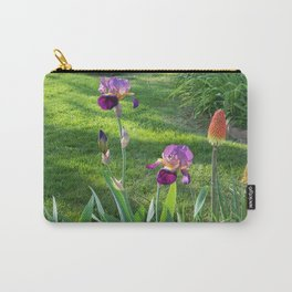 Mauve Iris and Torch Lillies.... Carry-All Pouch