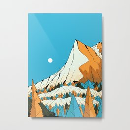 The high forest mountain peak Metal Print