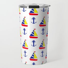 Sailing And Anchors Travel Mug
