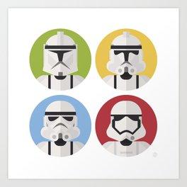 Stormtrooper evolution Art Print