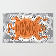 TIBETAN TIGER GOLDEN (white) Rug