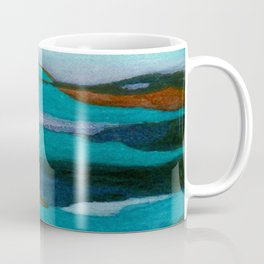 """""""a dark february redux1"""" abstract watercolor painting Coffee Mug"""