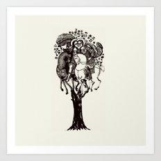 ♥ The Holly Tree ♥ Art Print