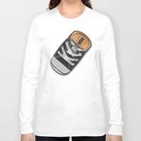 vans Long Sleeve T-shirts featuring Cute black Vans all star baby shoes apple iPhone 4 4s 5 5s 5c, ipod, ipad, pillow case and tshirt by Three Second