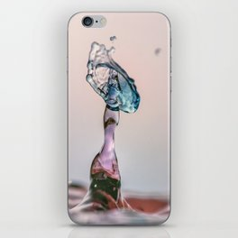 Red and Blue Water drop collision iPhone Skin