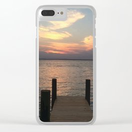 Baesic Lonely Dock Clear iPhone Case