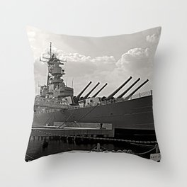 USS Wisconsin (BB-64) Throw Pillow