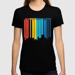 Retro 1970's Style Jefferson City Missouri Skyline T-shirt
