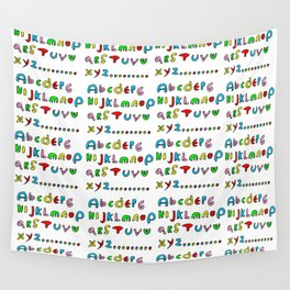 alphabet2-alphabet,letters,child,language,fun,abc,abcdefg,symbols,abecedarium,script,write,writing Wall Tapestry