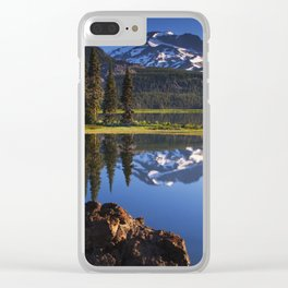 Sparks Lake Sunrise Clear iPhone Case