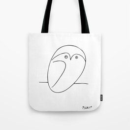 The Owl, Pablo PIcasso sketch drawing, line Design Tote Bag