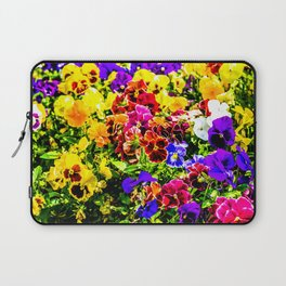 Viola Tricolor Pansy Flowers Laptop Sleeve