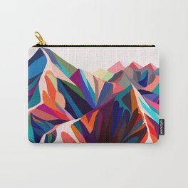 Mountains sunset warm Carry-All Pouch