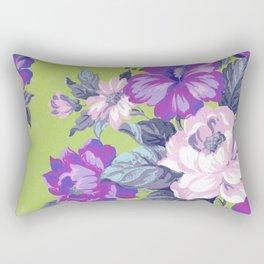 Saturated Vintage Floral Rectangular Pillow