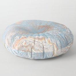 Rose Gold & Baby Blue Floor Pillow