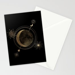 Orient Yourself with Moon  Stationery Cards