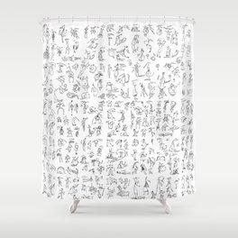 Esserini Schizzati Shower Curtain