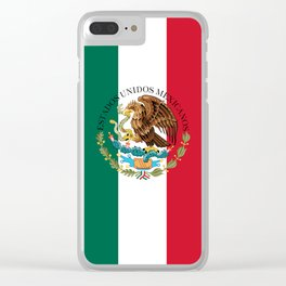 Flag of Mexico with Coat of Arms (augmented scale) Clear iPhone Case