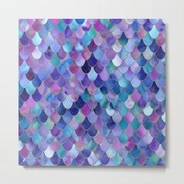 Mermaid Gems, Purple, Pink, Teal, Blue, Green Metal Print