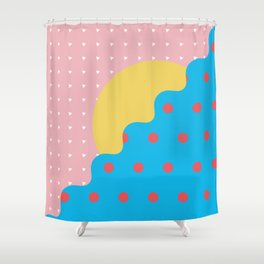 Memphis Style N°6 Shower Curtain