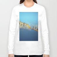 edinburgh Long Sleeve T-shirts featuring Edinburgh Castle  by Richard PJ Lambert