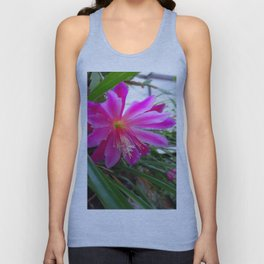 """BLOOMING FUCHSIA PINK """" ORCHID CACTUS"""" FLOWER Unisex Tank Top"""