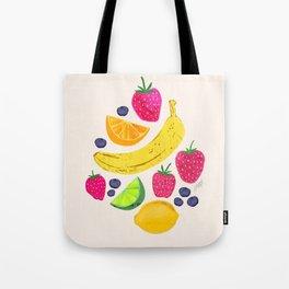 Fruit Illustration Tote Bag