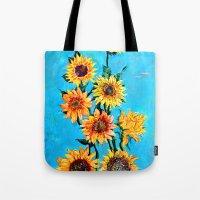 sunshine Tote Bags featuring SUNSHINE by Jordan Soliz