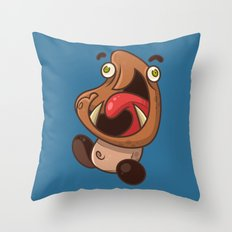 Excited Goomba Throw Pillow