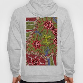 Aboriginal Art Authentic- Connections Hoody